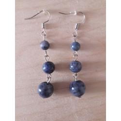 3 perles lapis lazuli