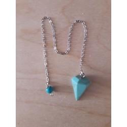 pendule hexagonal turquoise
