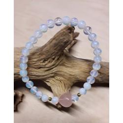 opale et quartz rose